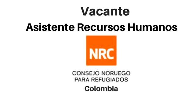 Vacante Asistente Recursos Humanos con NRC
