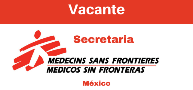Vacante secretaria con MSF