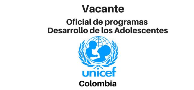 Vacante Oficial de programas UNICEF