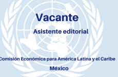 Vacante para asistente editorial con la Comisión Económica para América Latina y el Caribe