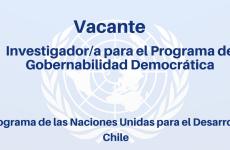 Vacante Investigador/a para el Programa de Gobernabilidad Democrática
