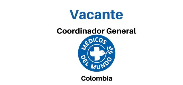 Vacante Coordinador General Médicos del Mundo