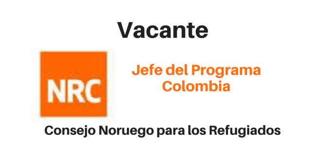 Vacante Jefe del Programa Colombia NRC