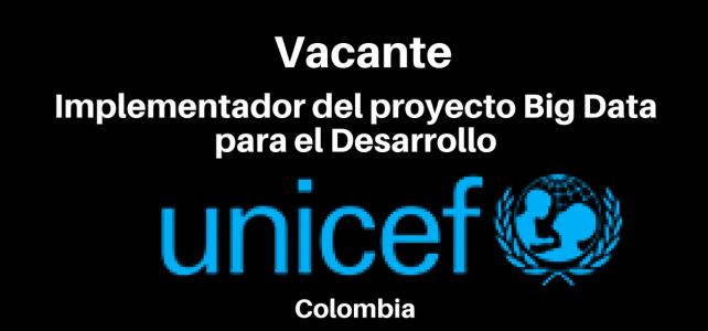 Vacante Implementador del proyecto Big Data para el Desarrollo con UNICEF