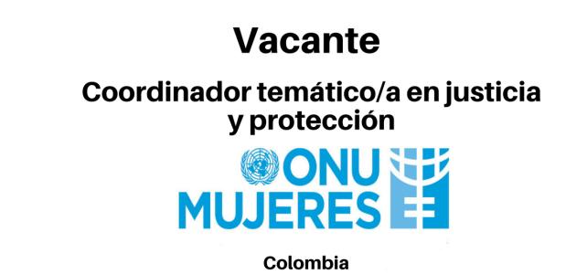 Vacante Coordinador temático/a en justicia y protección con ONU mujeres