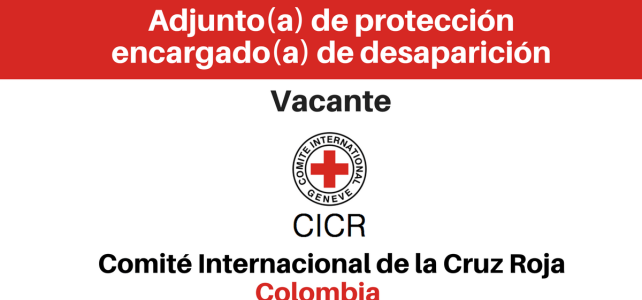Vacante para adjunto(a) de Protección encargado(a) de desaparición CICR