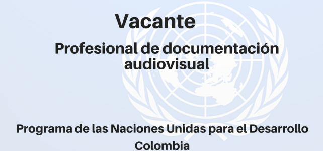 Vacante Profesional de Documentación Audiovisual PNUD