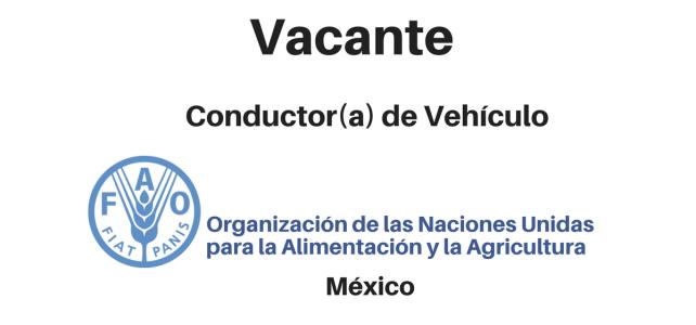 Vacante Conductor(a) de Vehículo FAO