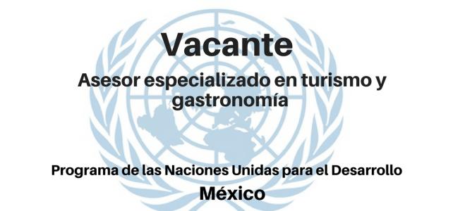 Vacante Asesor especializado en Turismo y Gastronomía PNUD