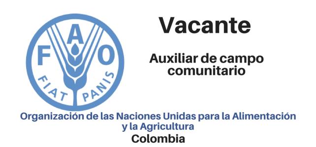 Vacante Auxiliar de Campo Comunitario FAO