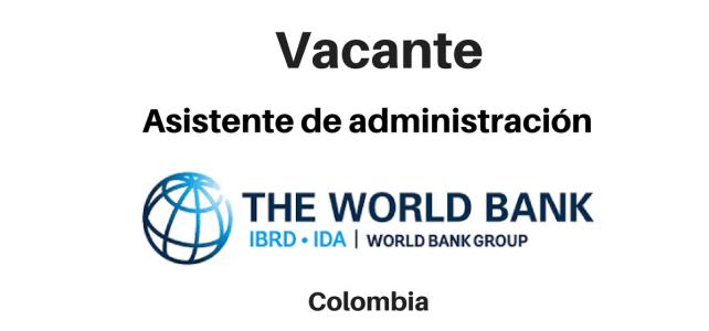 Vacante Asistente de administración Grupo del Banco Mundial
