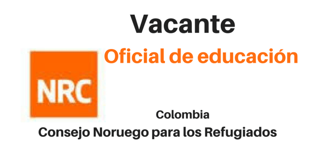 Vacante Oficial educación NRC