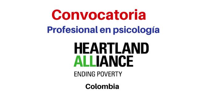 Convocatoria profesional en Psicología Heartland Alliance