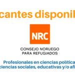 NRC convoca profesionales en ciencias políticas