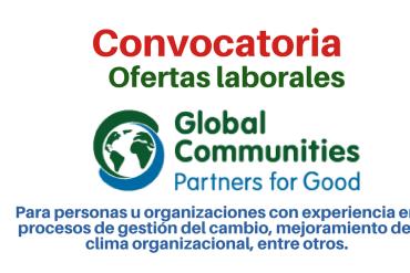 Global Communities convoca personas u organizaciones con experiencia en procesos de gestión del cambio