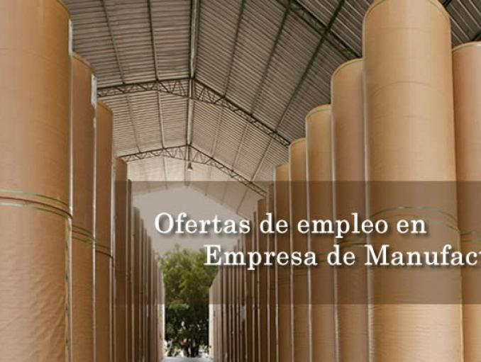Oferta de empleo Manufactura