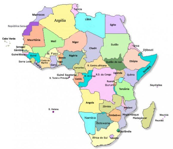 mapa da africa → Mapa da África: Conheça Todas as Regiões da África mapa da africa