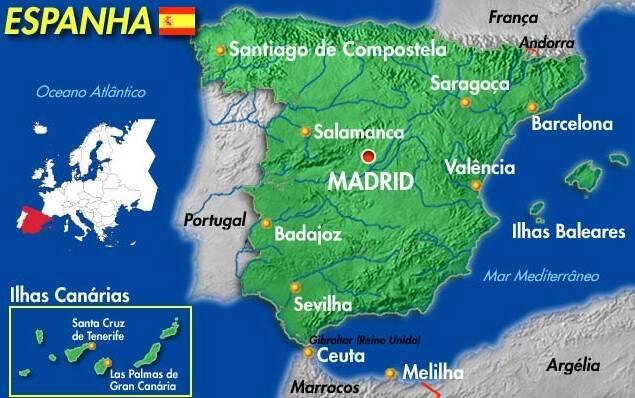 mapa de espanha tenerife → Mapa da Espanha Cidades: Conheça as Regiões da Espanha mapa de espanha tenerife