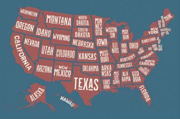 Aparador Tagalog ~ Mapa dos Estados Unidos, seus Estados e suas Cidades + Famosas