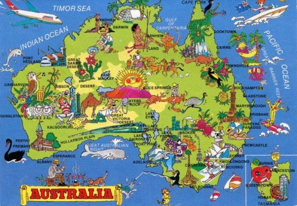 mapa da austrlia 2