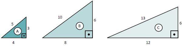 Exercício sobre o teorema de Pitágoras.