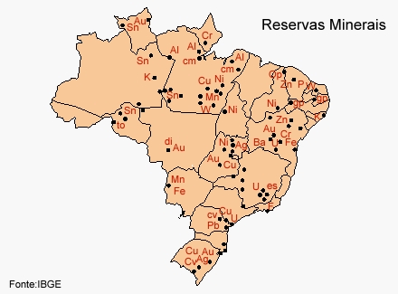 reservas minerais brasil