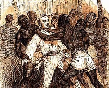 Os motins eram uma das vias de resistência dos negros contra a escravidão.
