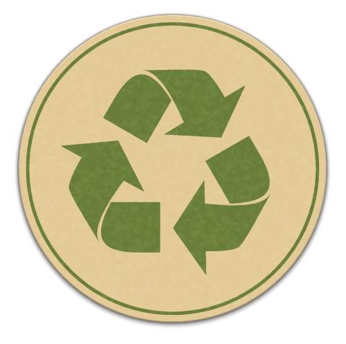 Símbolo internacional da reciclagem. Ilustração: Sergii Korolko / Shutterstock.com