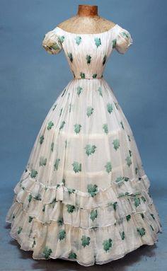 Simples vestido de verão de 1860.