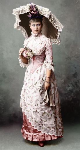 Vestido apropriado para o verão em 1870.