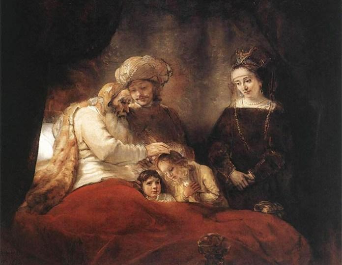 Rembrandt-van-rijn-jacob-blessing-the-children-of-joseph