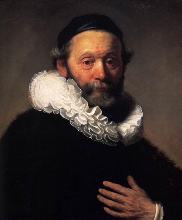 Retrato de Johannes Wtenbogaert por Rembrandt
