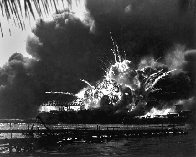 O ataque à base naval de Pearl Harbor aconteceu em 7 de dezembro de 1941 e provocou a entrada dos EUA na Segunda Guerra Mundial.