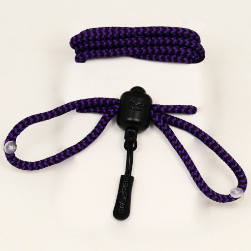 Photograph of Purple and Black striped Greeper Hikers Laces
