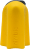 Image shows a close-up, side view of the Nimble which is made of yellow rubber with a grey tip housing the small safety blade