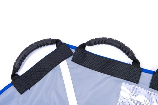Image shows a close-up of two carry handles on the ProMove Adult Sling on a white background