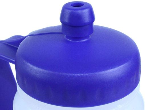 Image is a photograph showing the sports-cap detail of the hydrant lid
