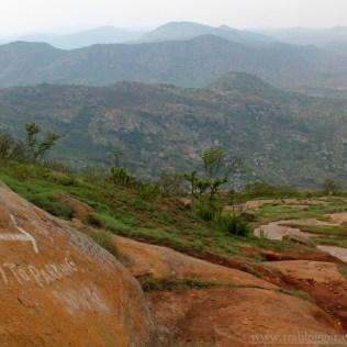 At the top of Skandagiri