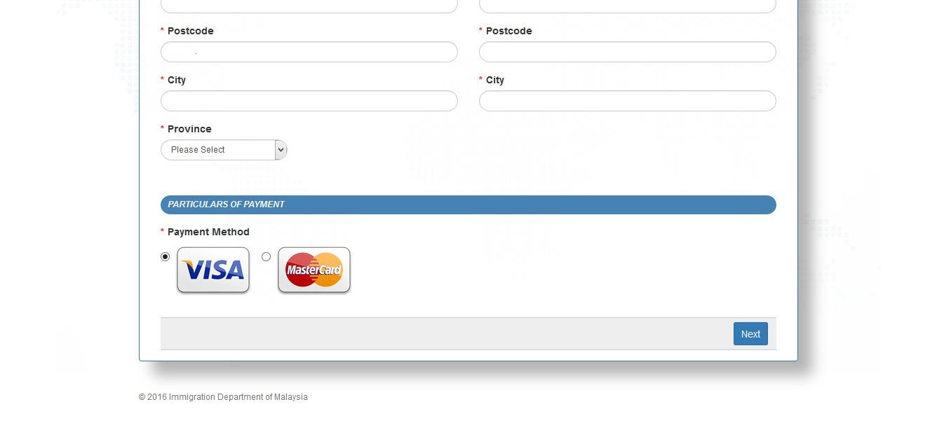 malaysian visa payment window