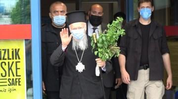 Fener Rum Patriği Bartholomeos Sümela'daki ayin için Trabzon'a geldi