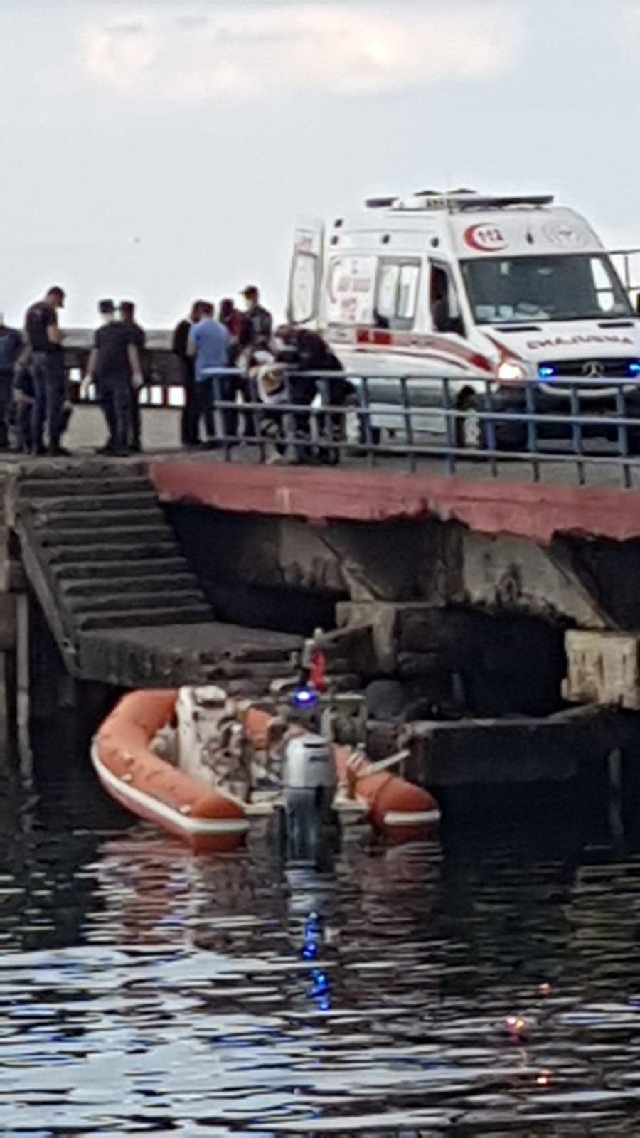 Akçaabat ilçesinde balıkçı ağına ceset takıldı