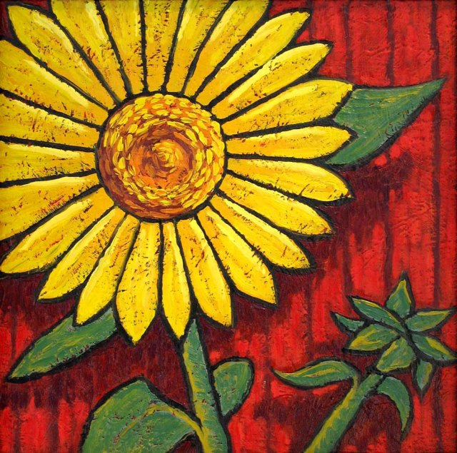 Sunflowers painting by Trace Meek
