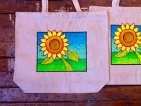 Sunflower Image on Bags