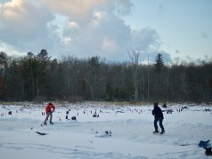 Pond hockey.