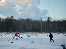 Pond hockey — copyright Trace Meek