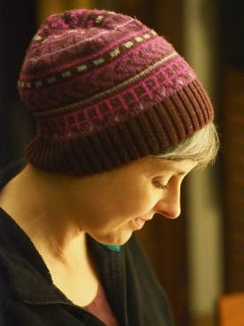 Becca in a knit hat — copyright Trace Meek