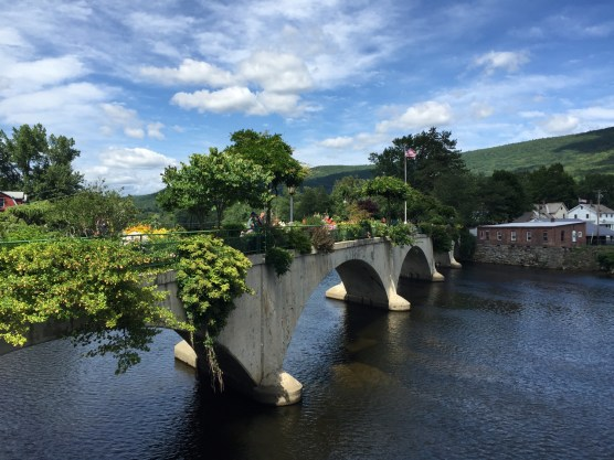 The Bridge of Flowers, Shelburne Falls, MA — copyright Trace Meek