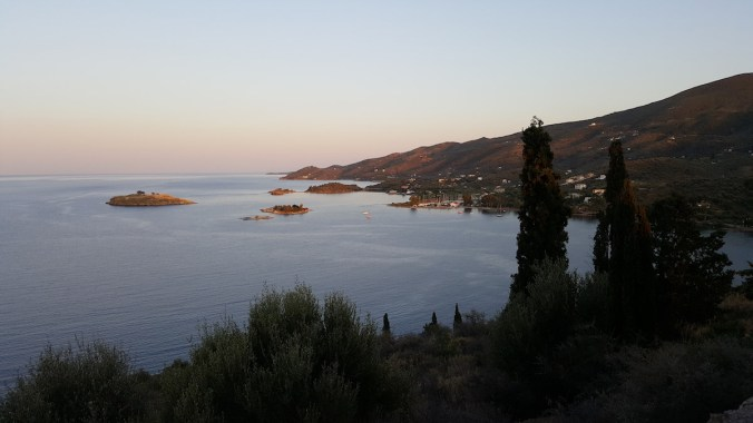 La côte depuis Poros
