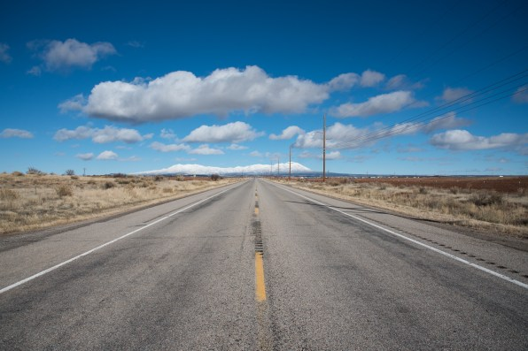 On the road, AZ