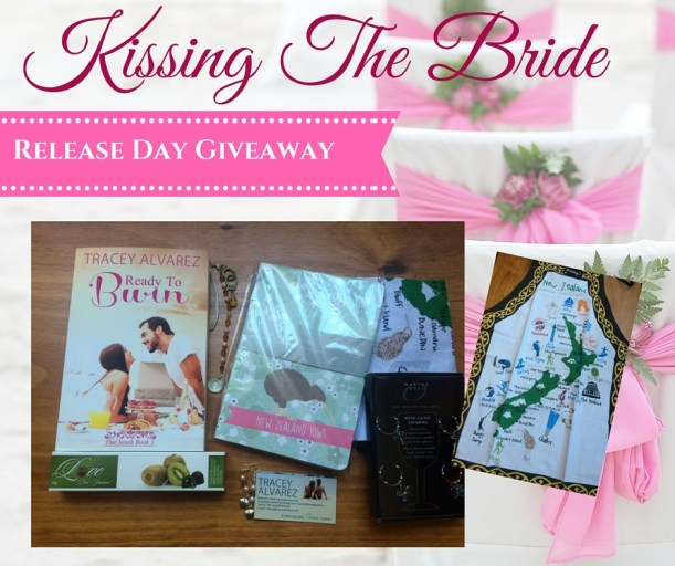 Kissing the bride giveaway photo